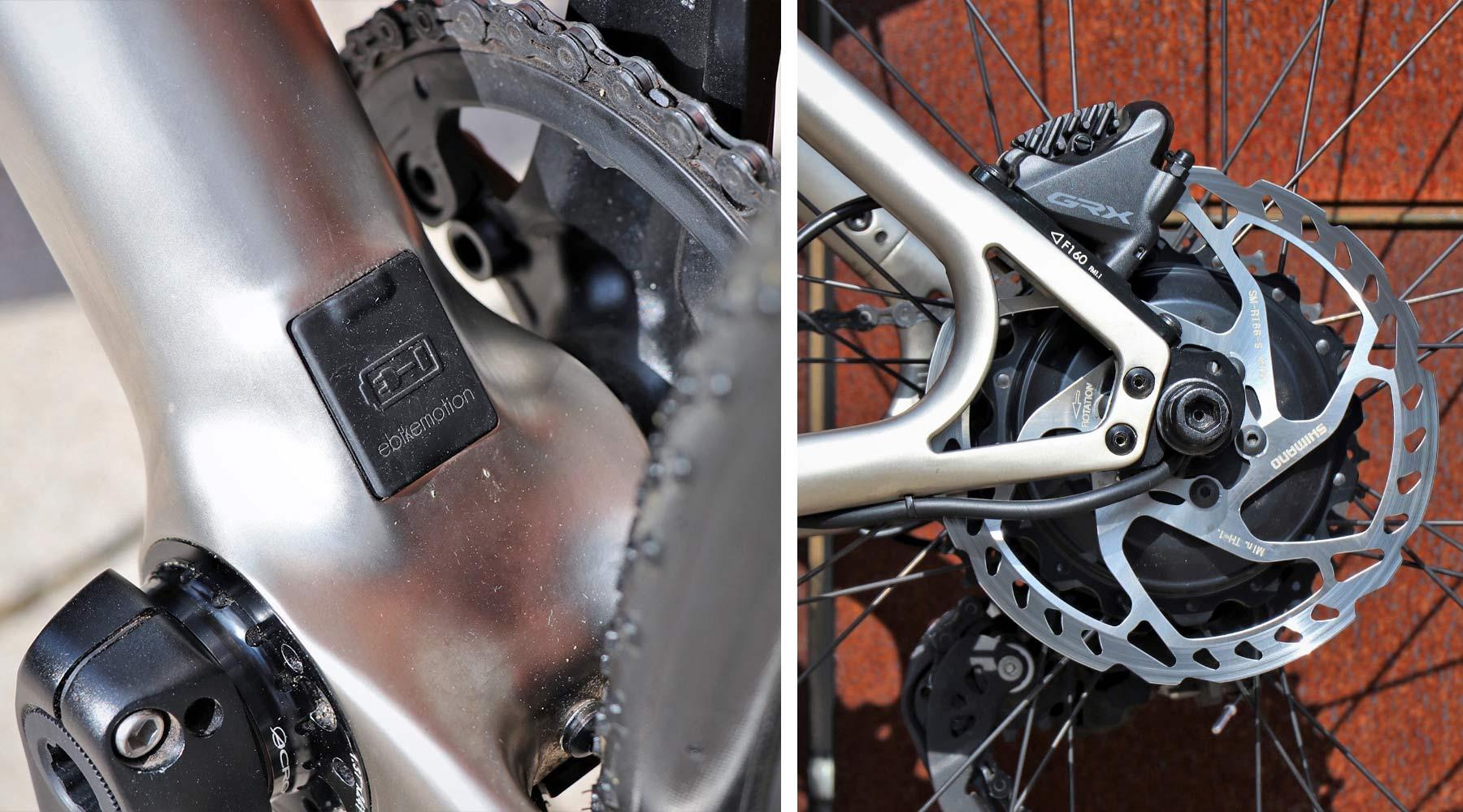 Urwahn Waldwiesel 3D-printed steel gravel bike no seattube, plus Waldwiesel.E hidden e-bike option,ebikemotion