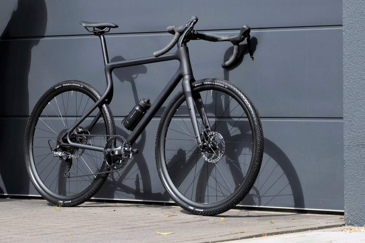 Urwahn Waldwiesel 3D-printed steel gravel bike no seattube