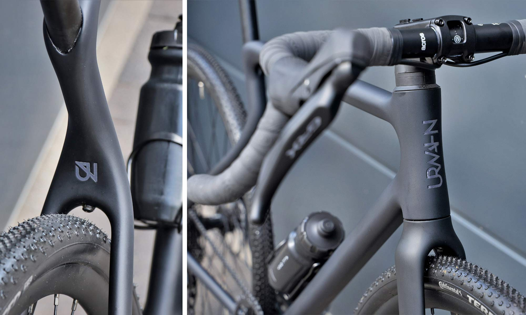 Urwahn Waldwiesel 3D-printed steel gravel bike no seattube, plus Waldwiesel.E hidden e-bike option, frame details