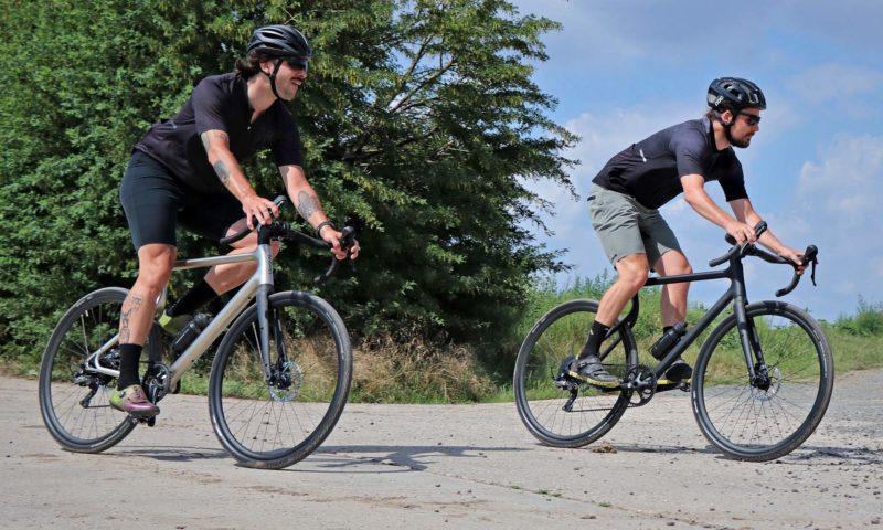 Urwahn Waldwiesel 3D-printed steel gravel bike no seattube, plus Waldwiesel.E hidden e-bike option,riding