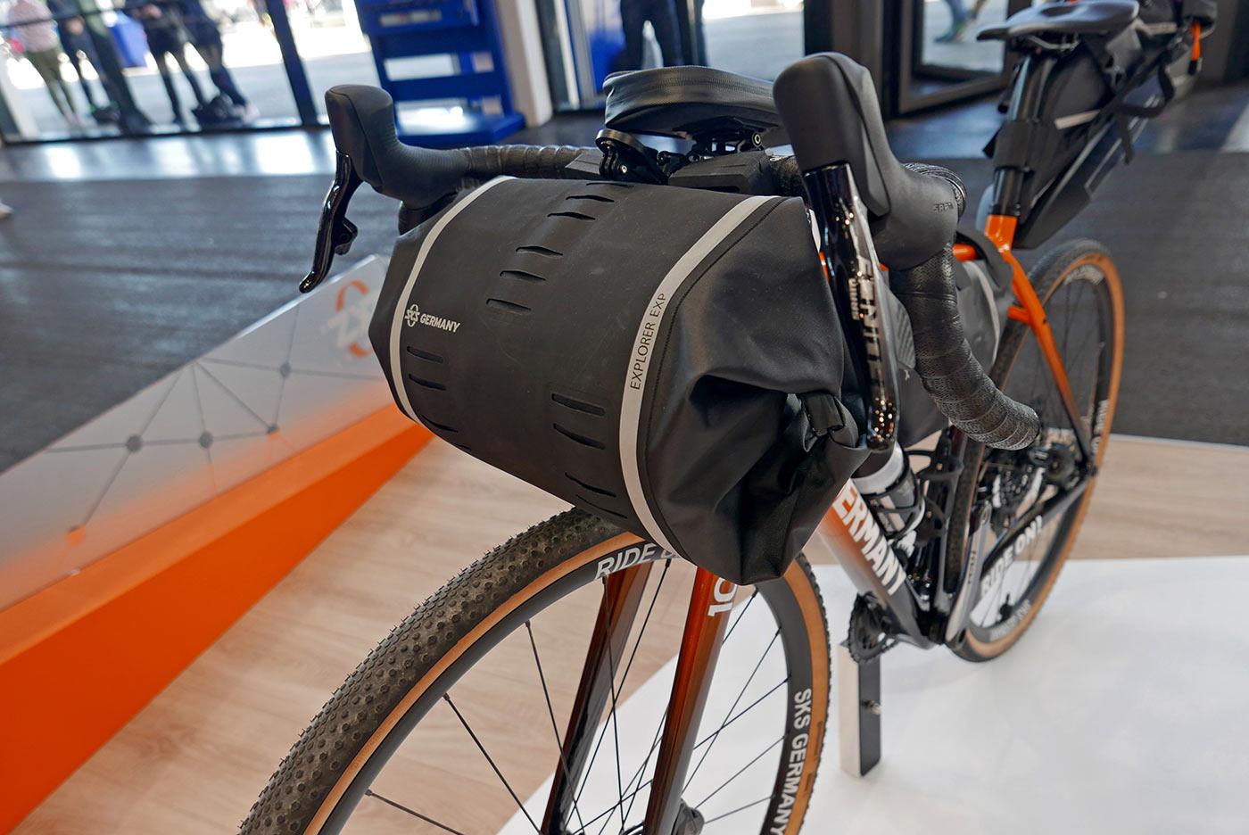 sks explorer waterproof handlebar roll bag for bikepacking