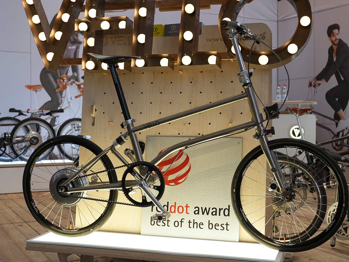 vello ultralight titanium folding bike