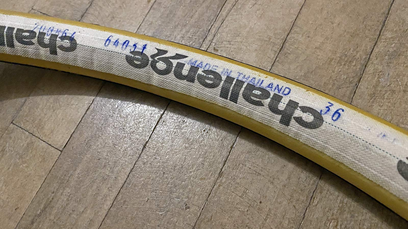 Challenge Getaway gravel bike tires, handmade tubeless tubular H-TLTU, casing base tape
