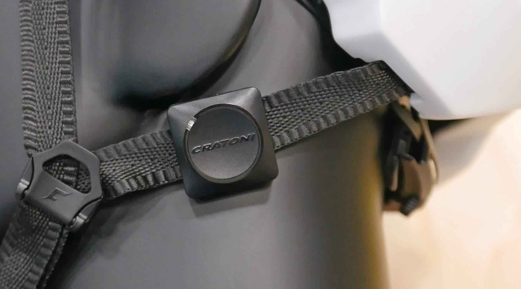 Cratoni C-Safe crash sensor, add-on impact detection safety upgrade for any helmet,strap=on