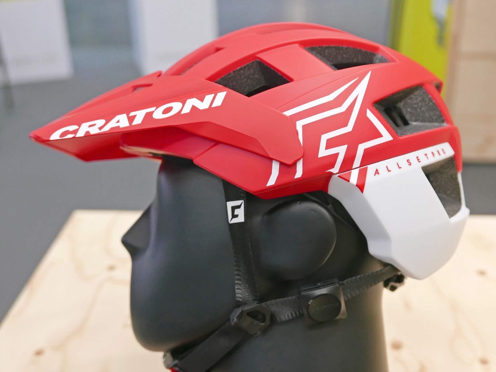 Cratoni C-Safe crash sensor, add-on impact detection safety upgrade for any helmet,on Allset Pro