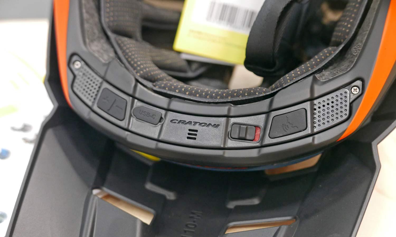 Madroc Pro smart convertible full face MTB helmet, integrated electronics