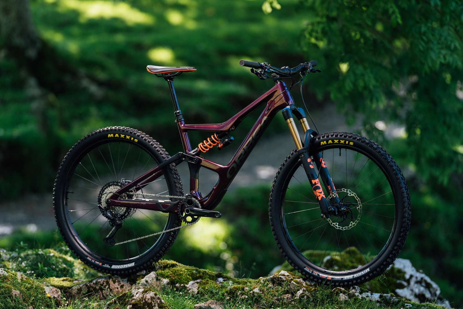 2022 orbea occam m 10 lt 150mm 29er trail bike purple fox dhx2 coil shock