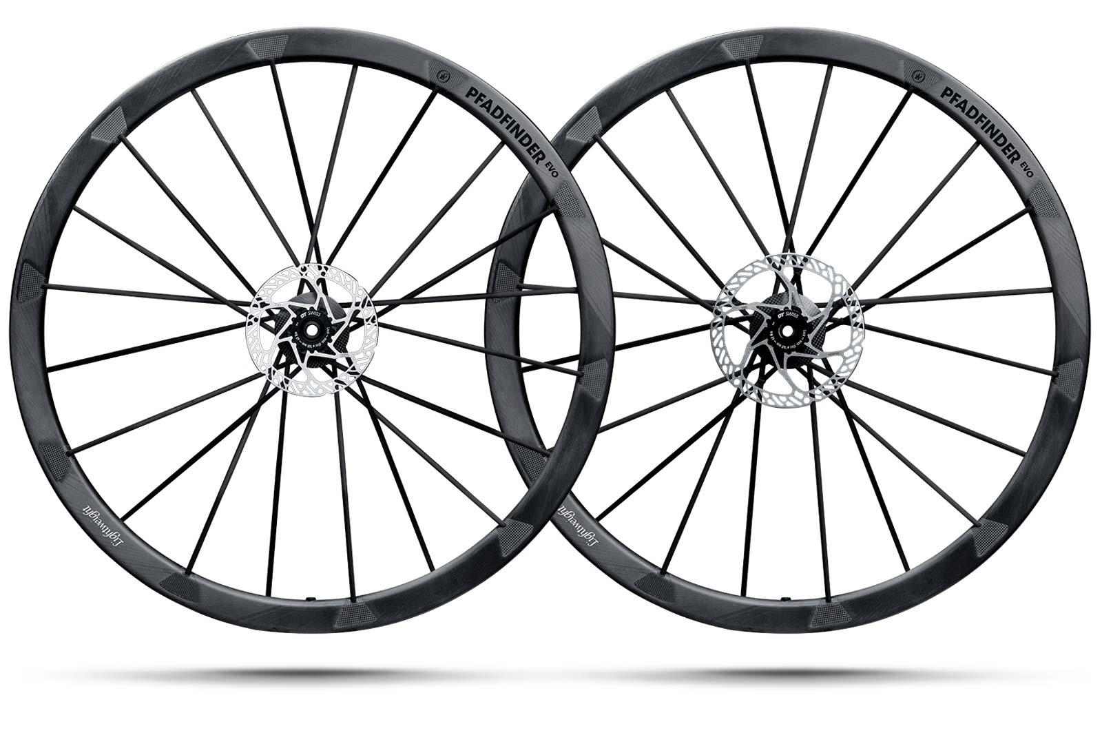 lightweight pfadfinder evo carbon gravel wheelset disc