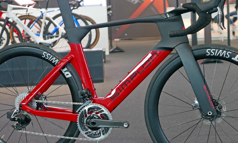 Simplon Pride II disc brake carbon aero road bike,frame detail