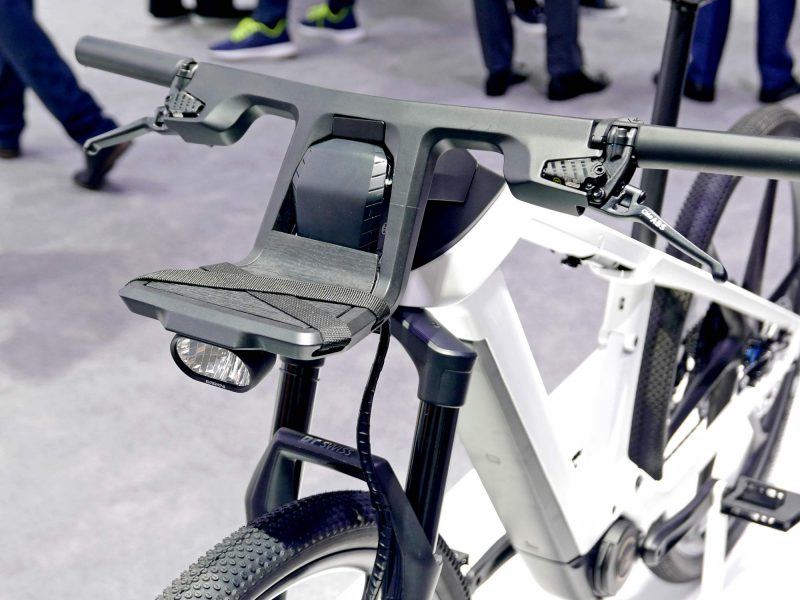 Bosch eBike ABS prototype e-bike with integrated anti-lock braking, carbon cockpit