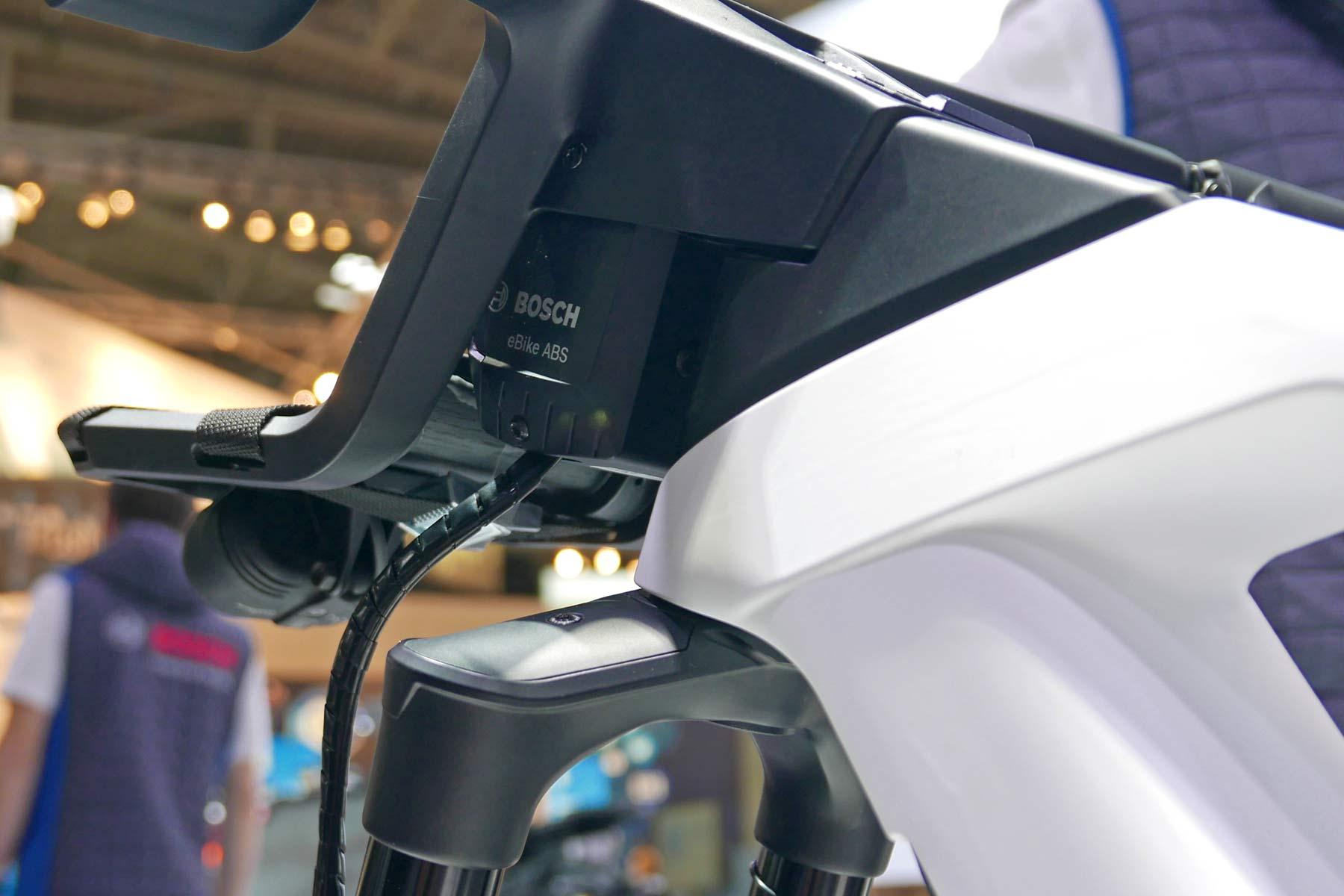 Bosch eBike ABS prototype e-bike with integrated anti-lock braking, on-board computer controller