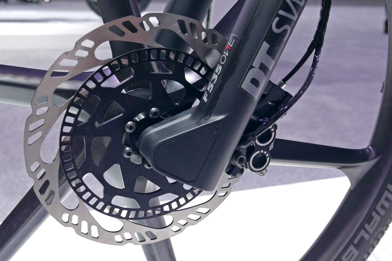 Bosch eBike ABS prototype e-bike with integrated anti-lock braking, front brake