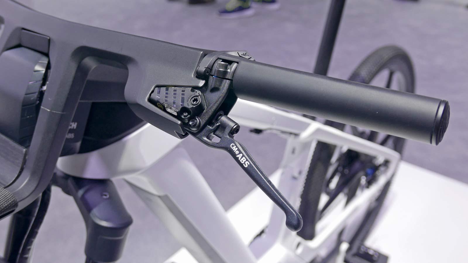 Bosch eBike ABS prototype e-bike with integrated anti-lock braking, Margura lever