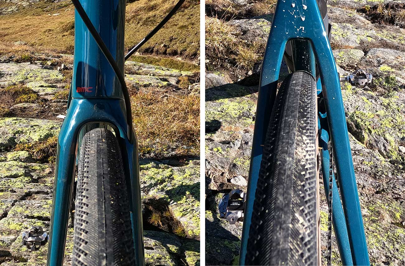 tire clearance example on bmc roadmachine with 32mm tires