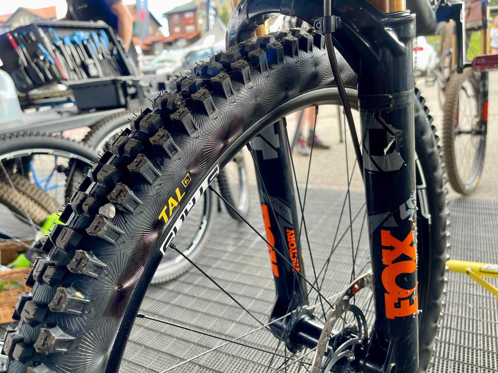 prototype continental downhill mountain bike tire tal fr