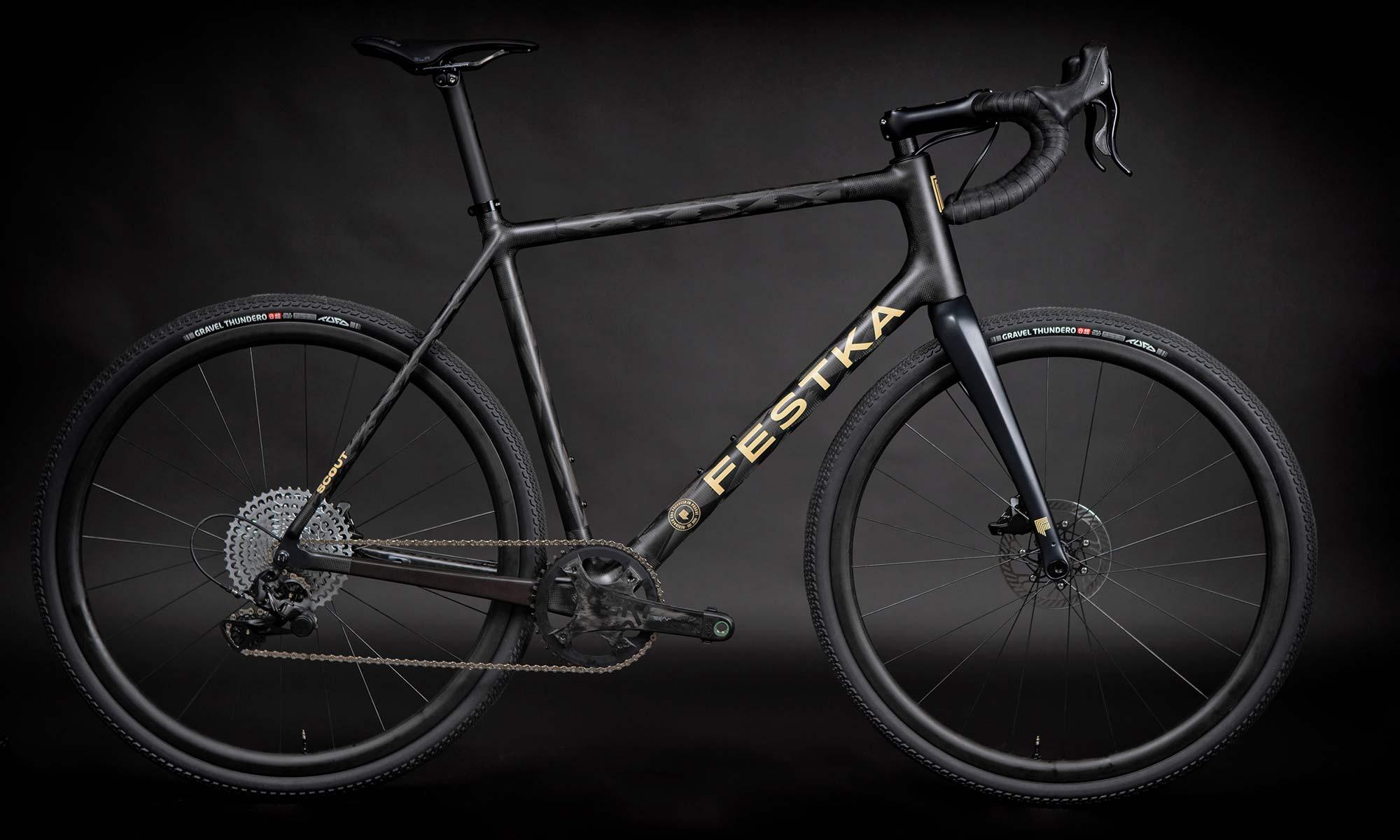 Festka Scout custom carbon adventure gravel bike,Campy Ekar