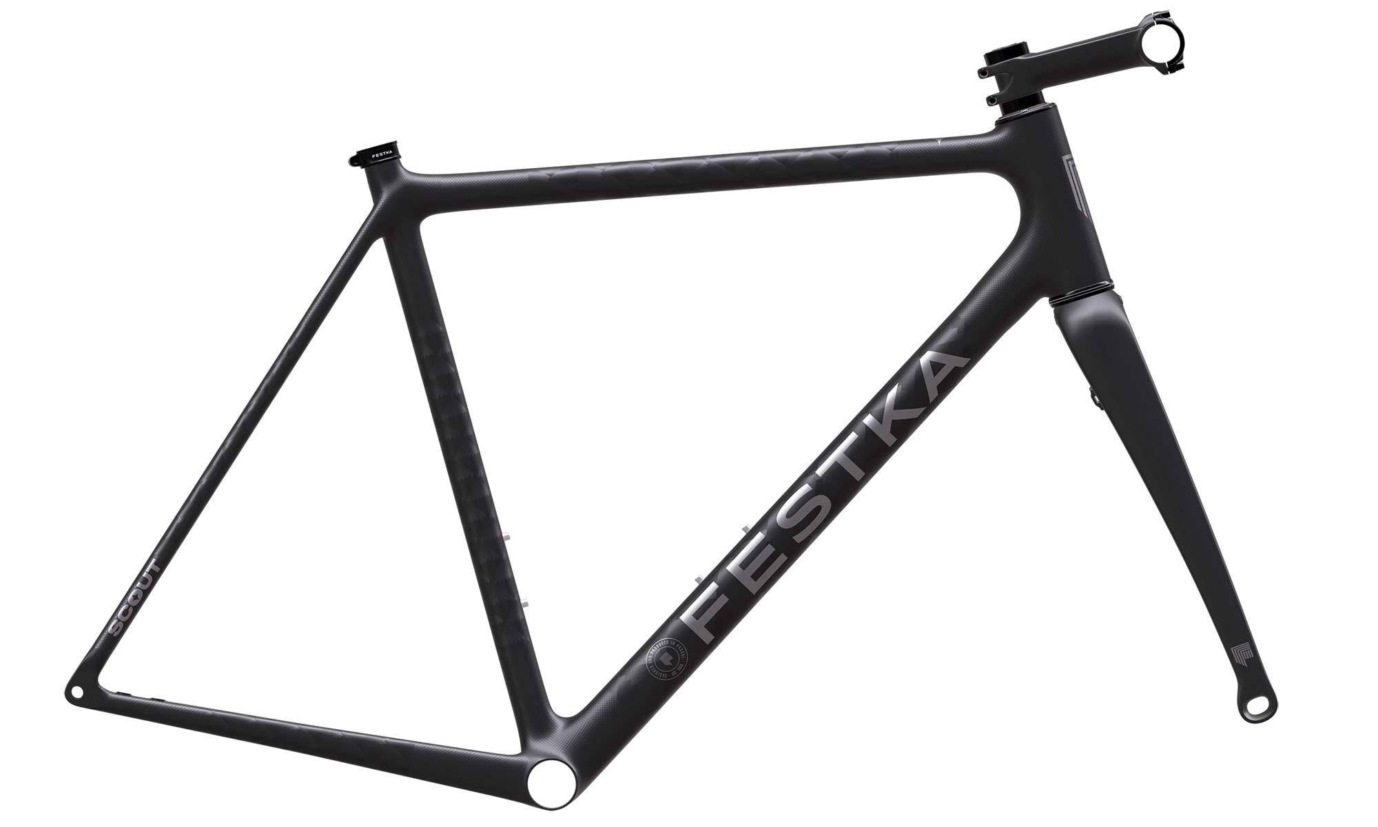 Festka Scout custom carbon adventure gravel bike, Coreframeset