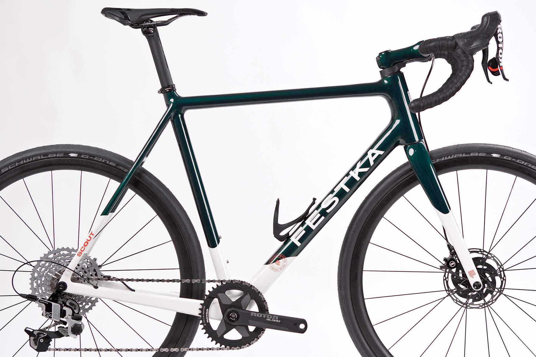 Festka Scout custom carbon adventure gravel bike,frameset detail