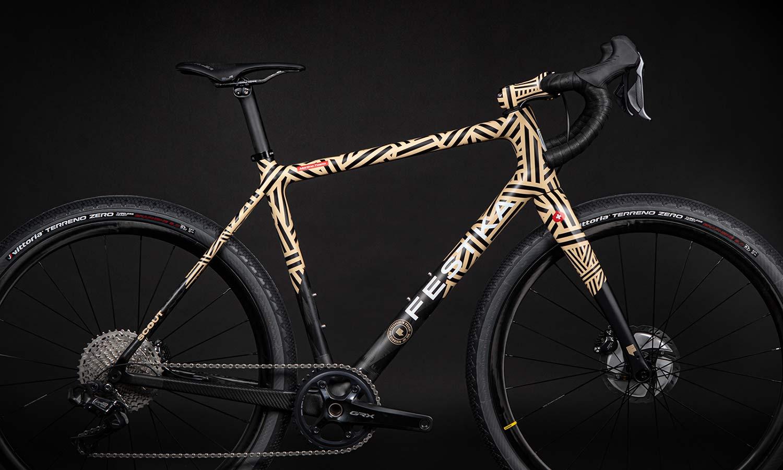 Festka Scout custom carbon adventure gravel bike,Mummy detail