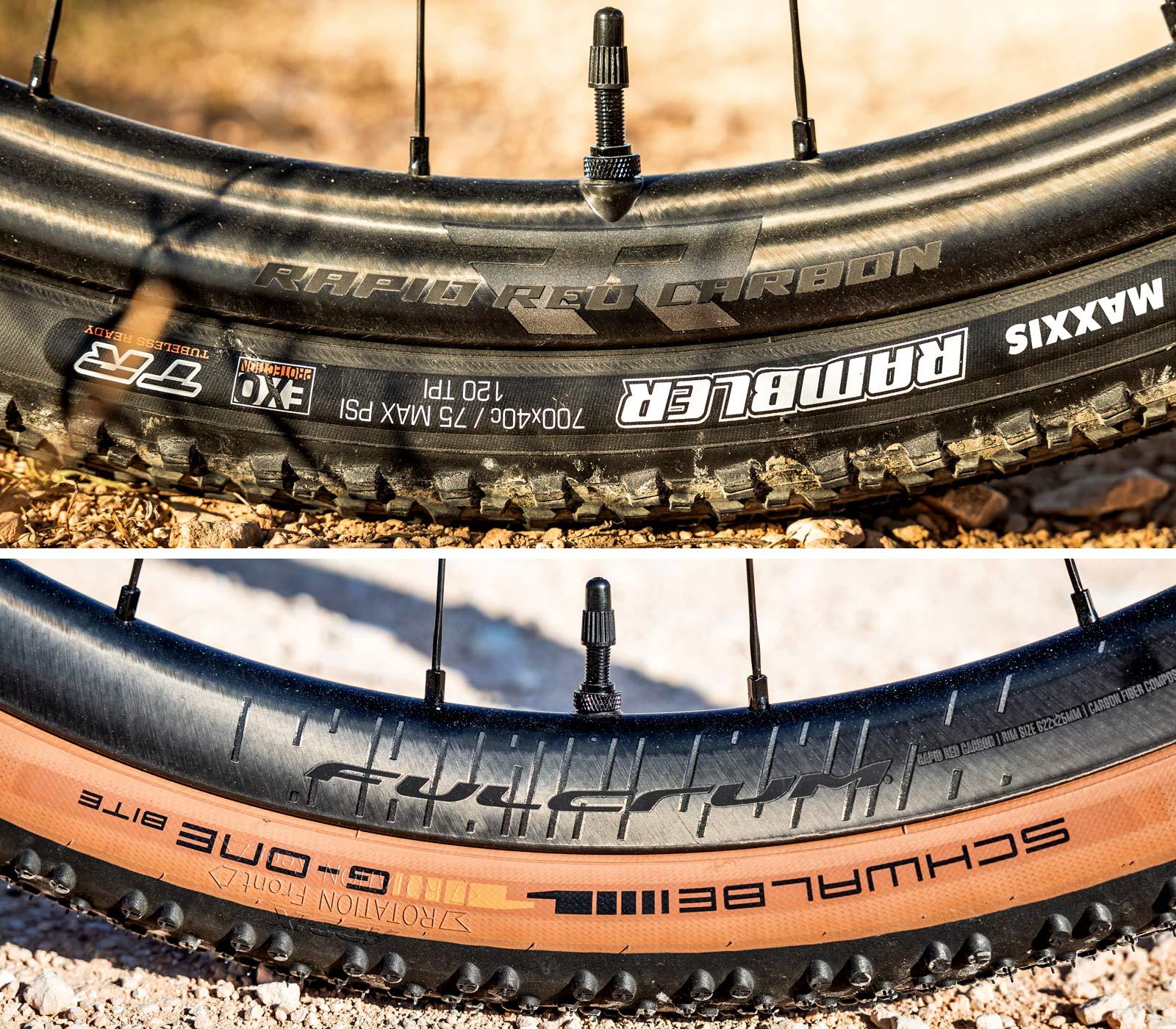 Fulcrum Rapid Red Carbon lightweight asymmetric tubeless gravel bike wheels,asymmetric rim details