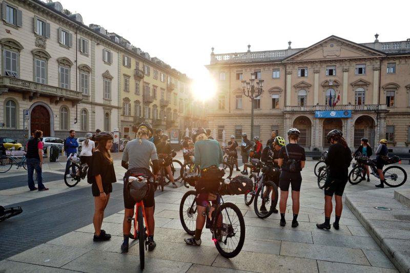Komoot women's Torino Nice Rally, sunrise