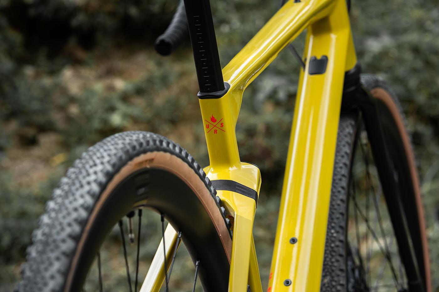 bmc urs lt full suspension gravel bike rear shock rear view