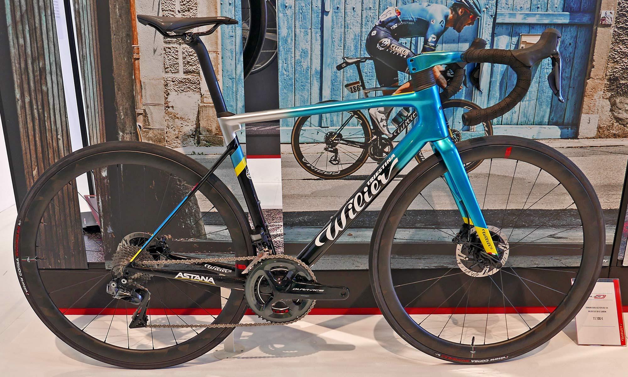 Wilier 0 SLR lightweight carbon all-rounder road race bike, Astana