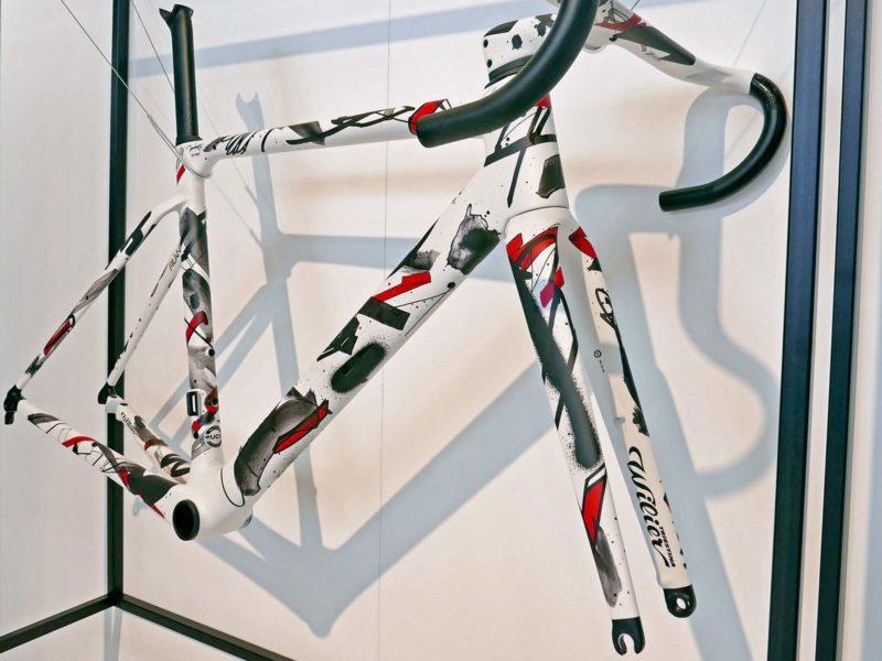 Wilier Unico, limited artist-series Filante SLR aero road bike, artwork by Jun Inoue, frameset