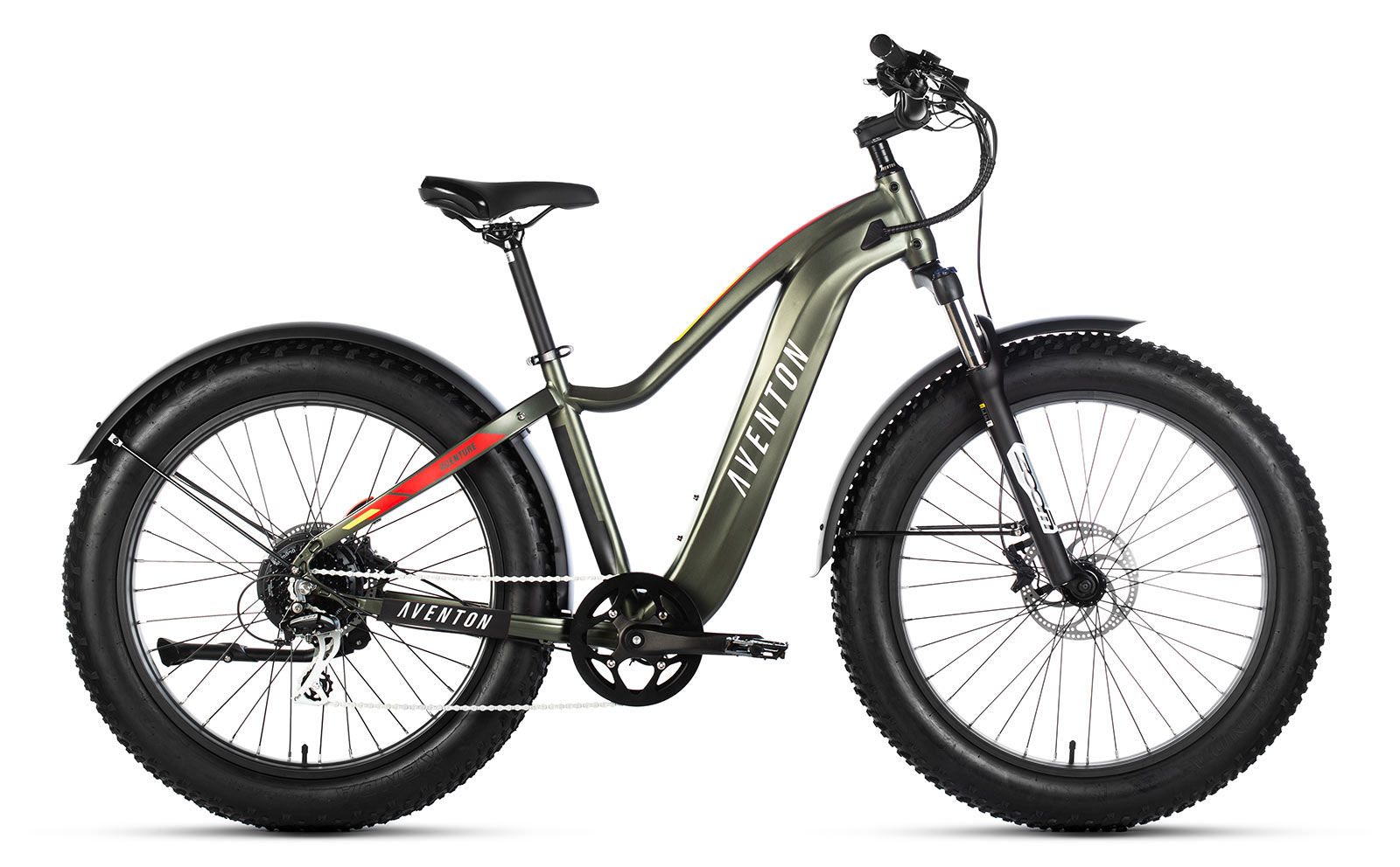 aventon aventure fat tire ebike for trails and city commuters