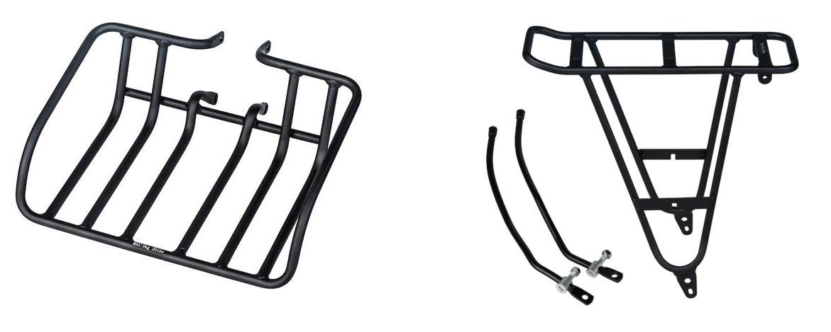 front and rear cargo racks for the aventon aventure e-bike