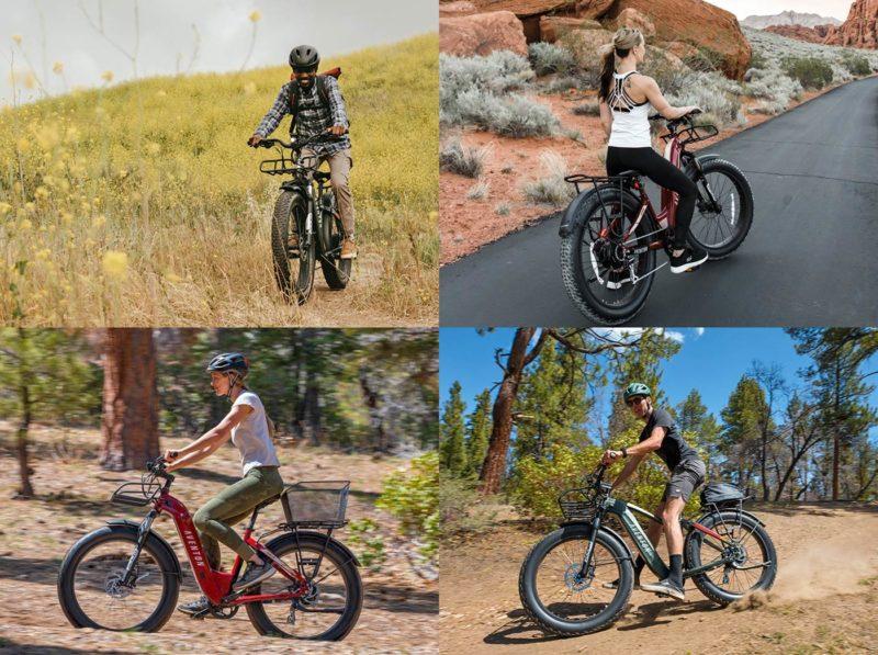 aventon aventure fat tire all terrain e-bike for offroad exploring trails and urban city commuting