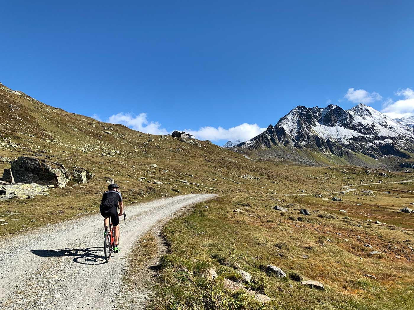 mountain hut refugio in switzerlands swiss alps