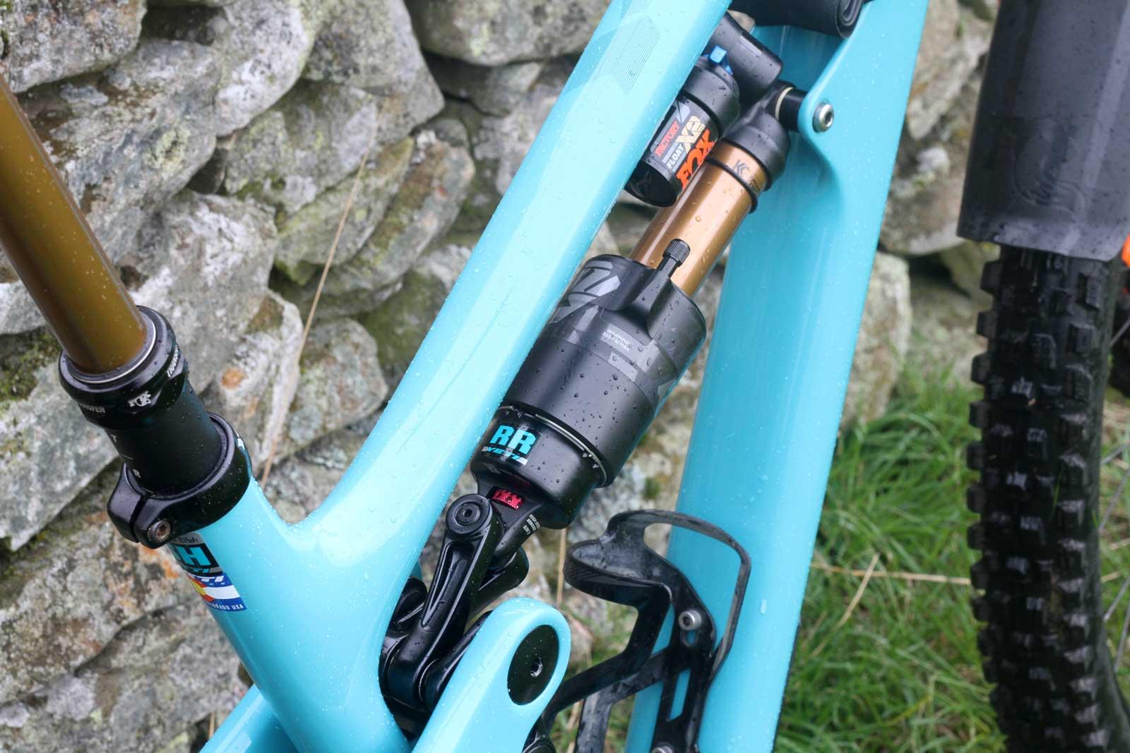 richie rude yeti sb150 pro bike check ews tweed valley fox x2 air shock settings