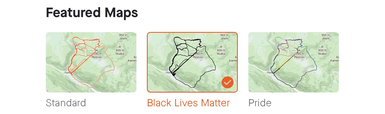 Activity Map view customization for all, Black Lives Matter