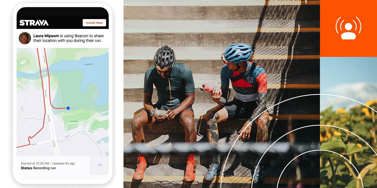 Strava Beacon ride safety tracking for all