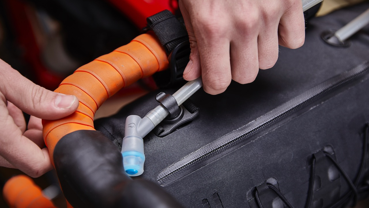 Bontrager Adventure bag packed bar bag hydration