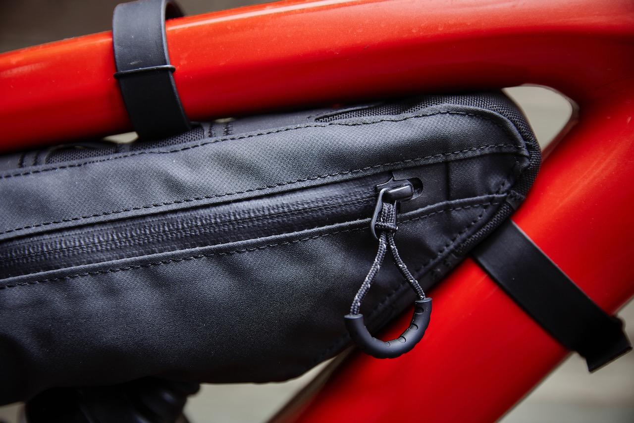 Bontrager Adventure bag packed boss bag zipped