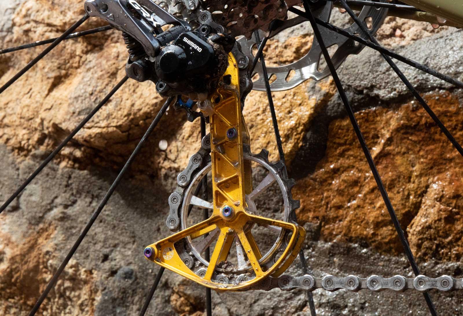 kogel kolossos desviador superdimensionado gaiola polia bicicleta de cascalho
