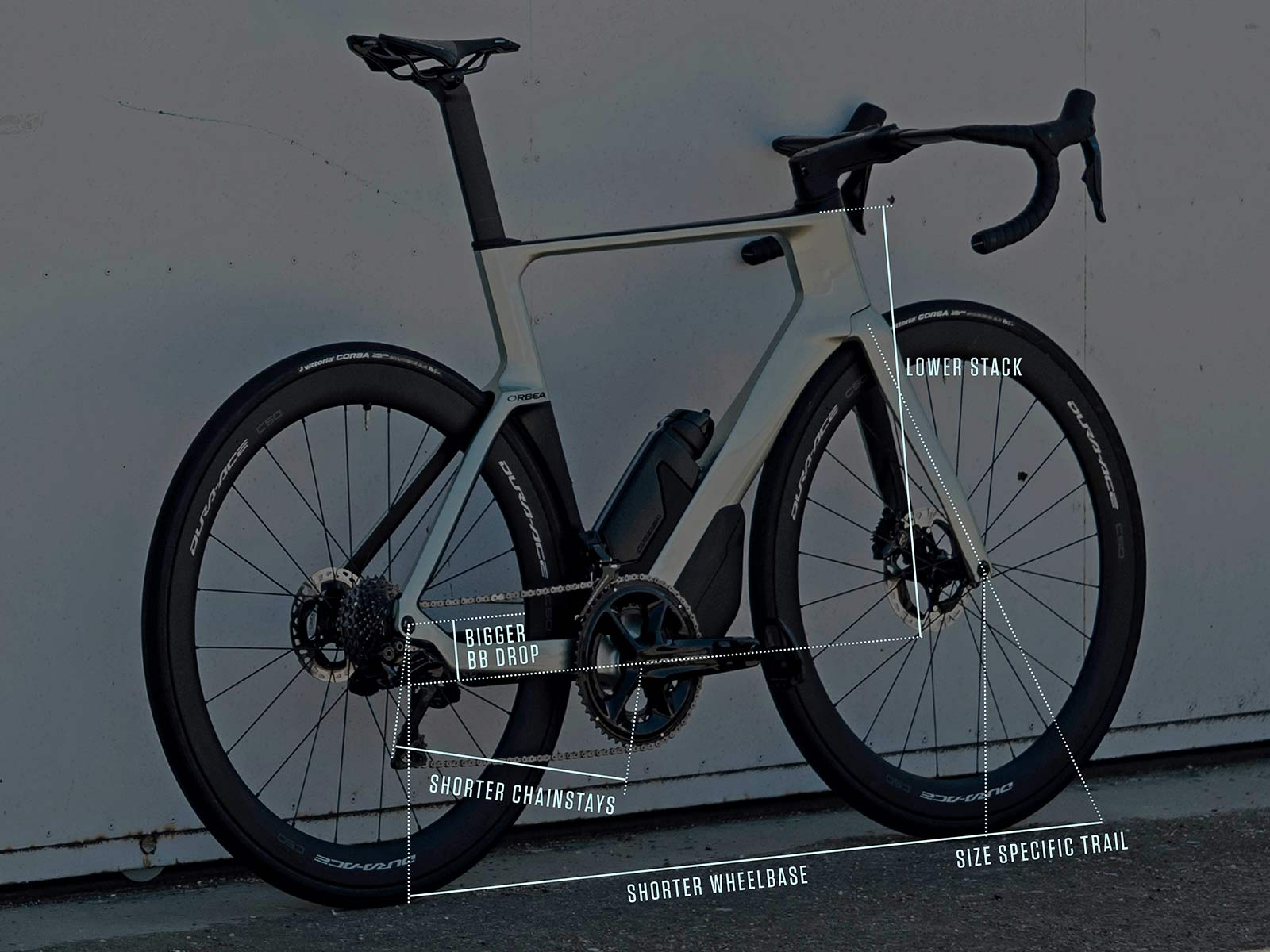 2022 Orbea Orca Aero carbon road bike, geo tweak