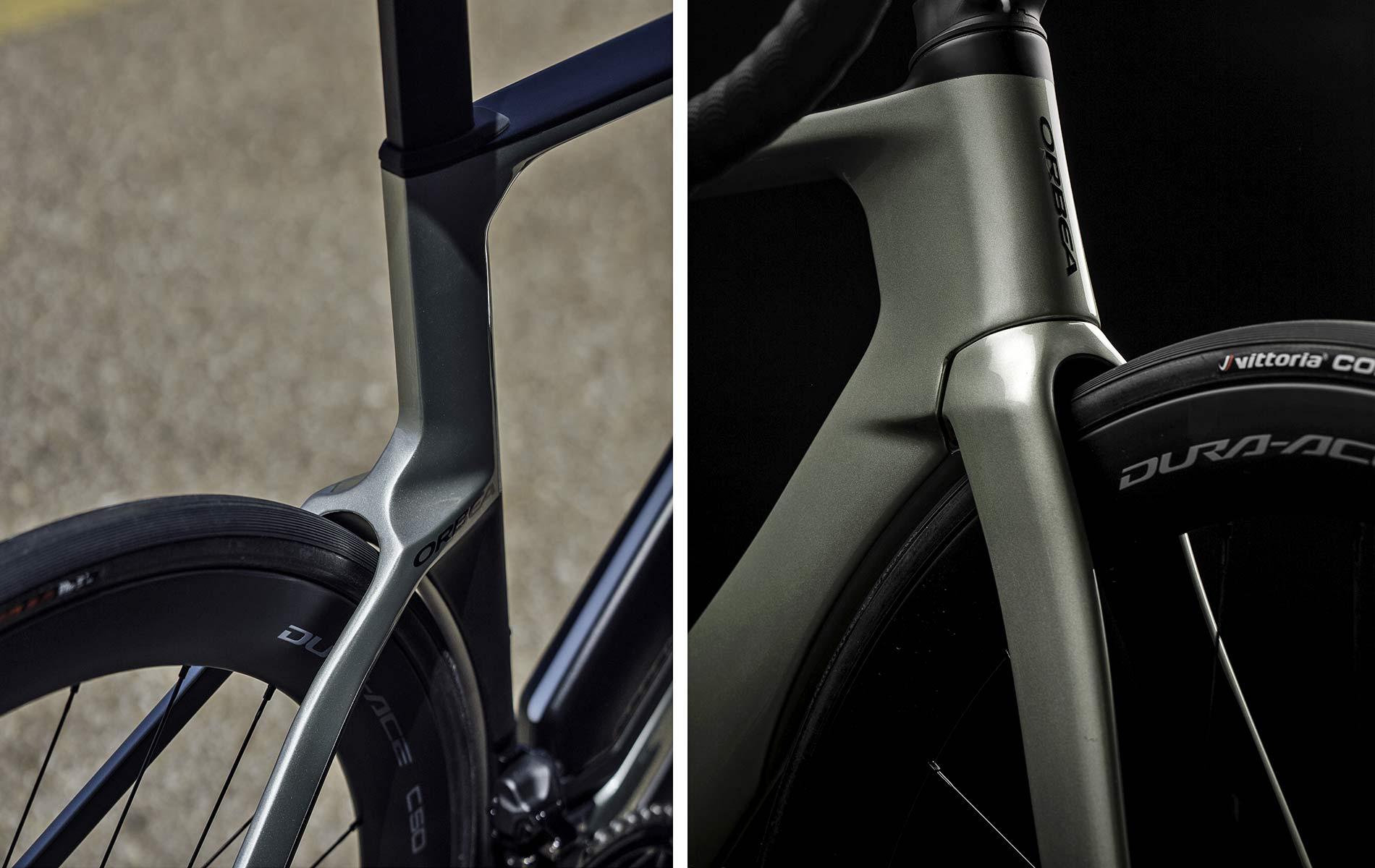 2022 Orbea Orca Aero carbon road bike, tire details