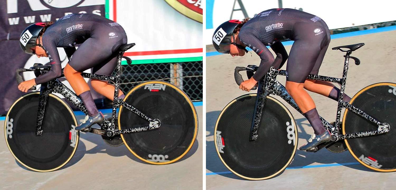 TRed Peregrine Falcon prototype track bike, Francesca Selva sprint