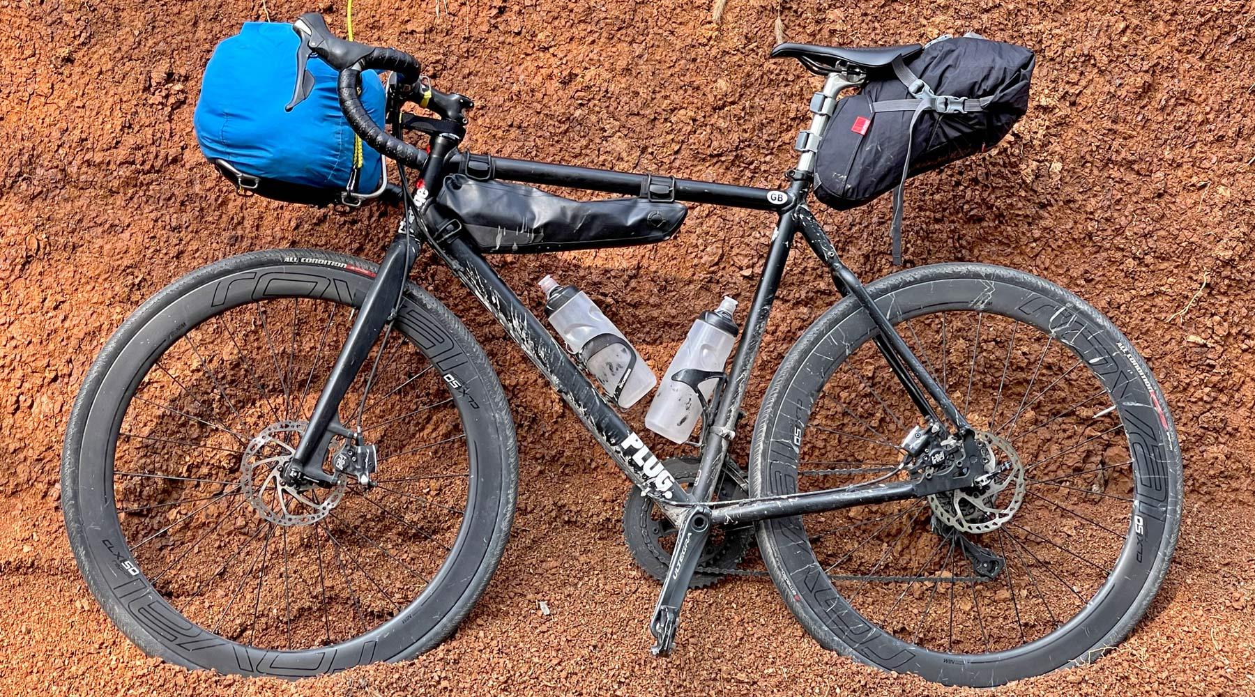 Jack The Bike Rack evrensel-uyumlu aletsiz çelik boru kayışlı ön raf, bikepacking