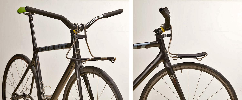 Jack The Bike Rack evrensel uyumlu aletsiz çelik boru kayışlı ön raf, fixie banliyö