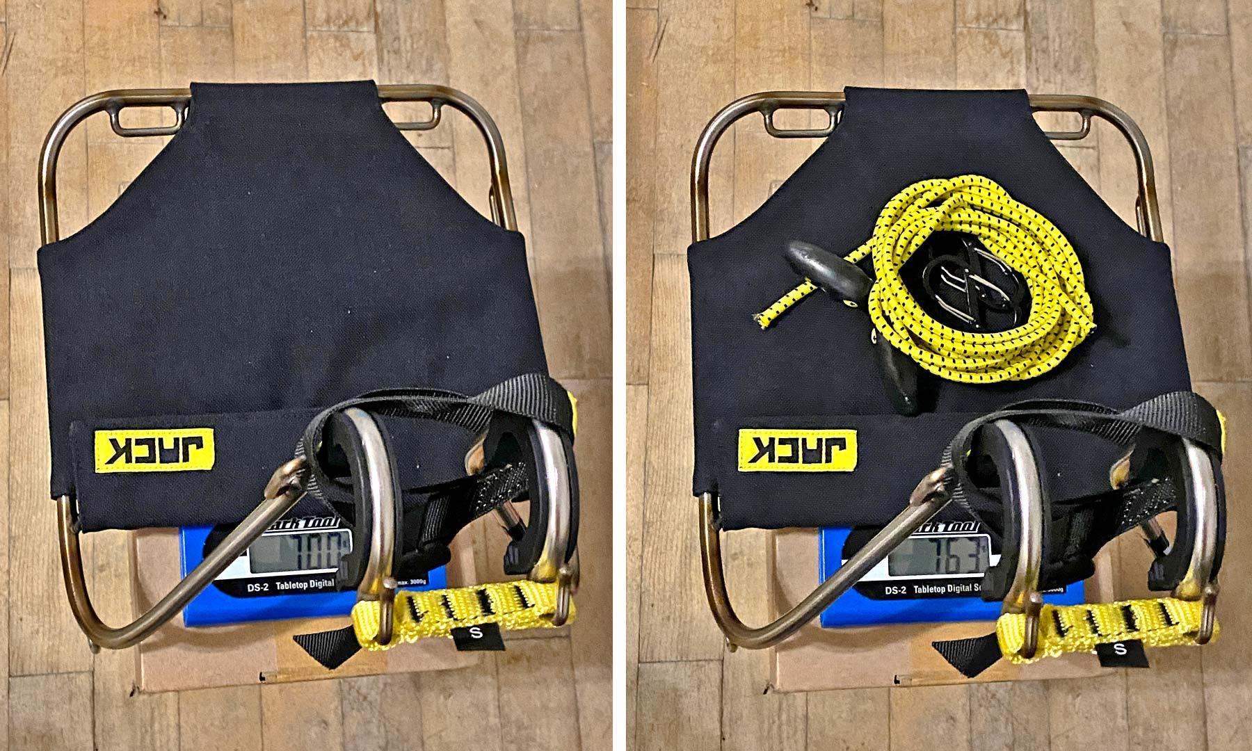 Jack The Bike Rack evrensel uyumlu aletsiz çelik boru kayışlı ön raf, 700g gerçek ağırlık