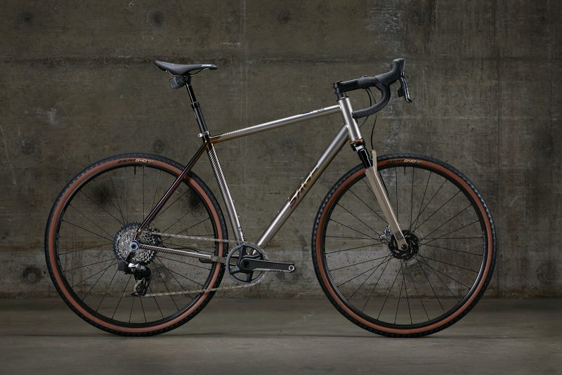 sage storm king gp titanium gravel bike with front suspension