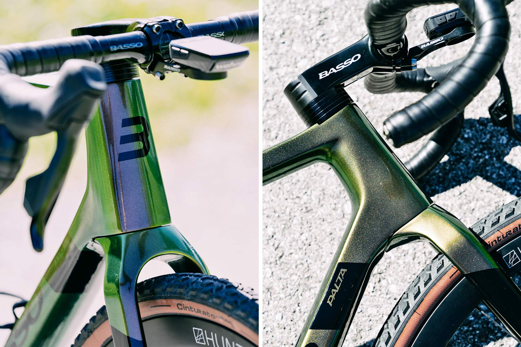 2022 Basso Palta II carbon gravel bike review made-in-Italy, photo by Francesco Bonato,front end headtube