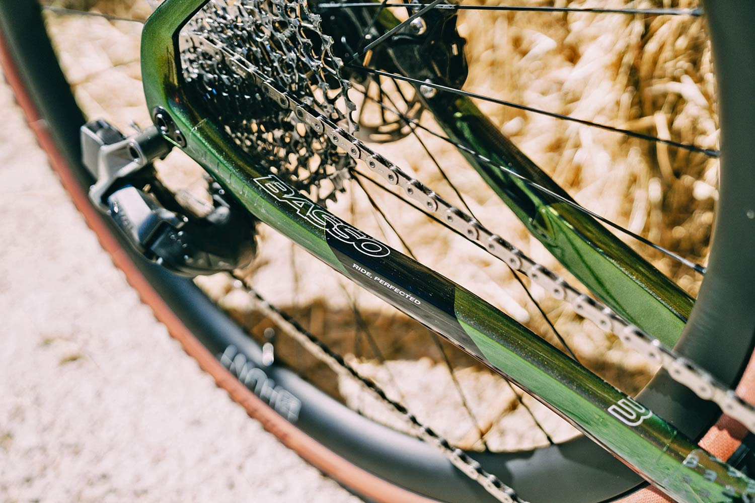 2022 Basso Palta II carbon gravel bike review made-in-Italy, photo by Francesco Bonato,rear end chainstay