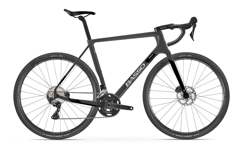 2022 Basso Palta II carbon gravel bike, black Shimano GRX 600 2x11