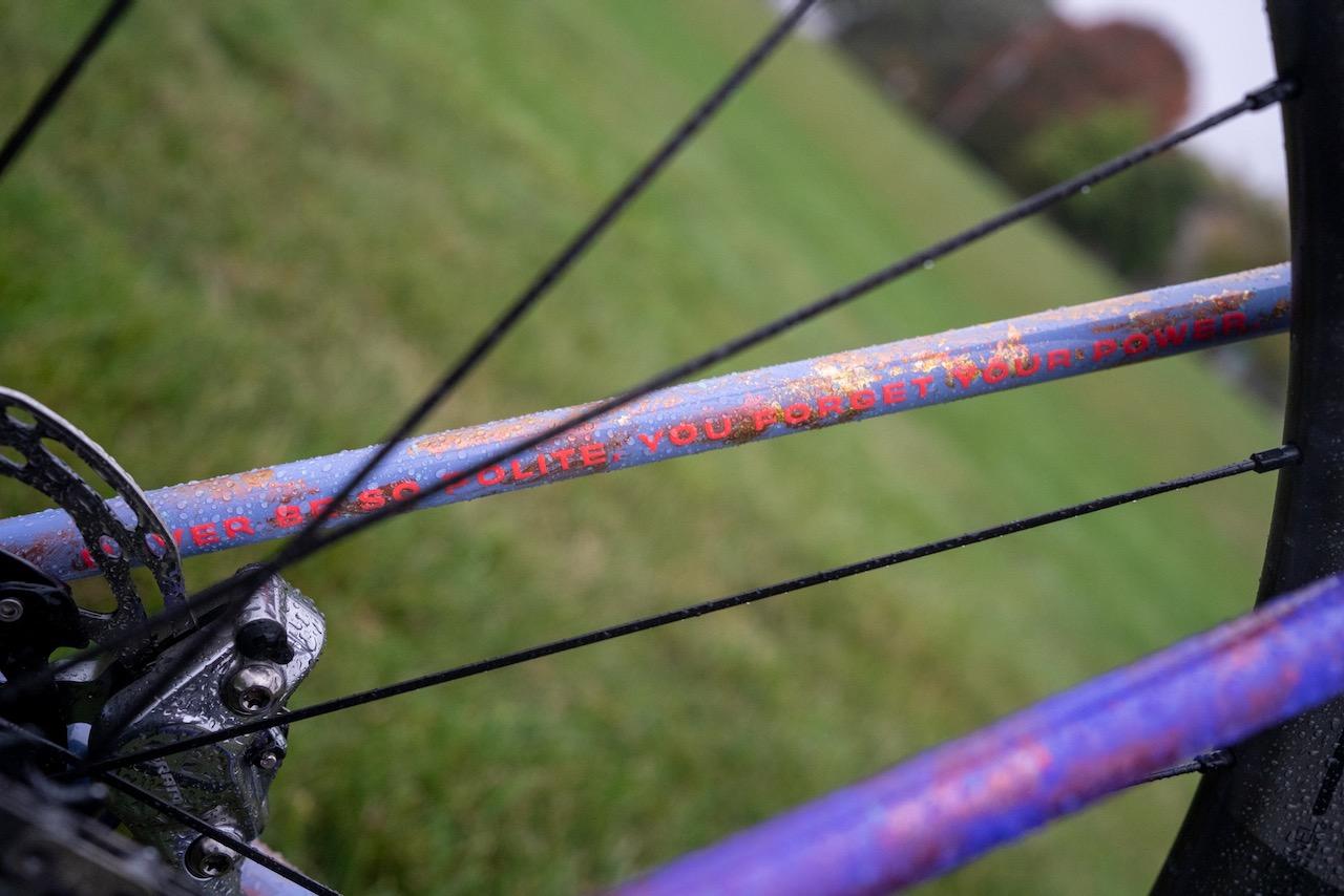 Maghalie Rochette Specialized Crux bike check full more lyrics seatstay