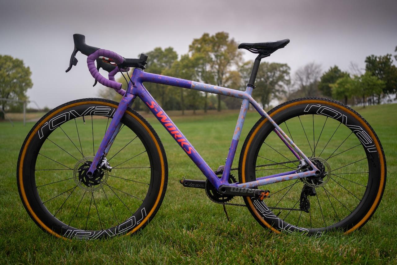 Maghalie Rochette Specialized Crux bike check full non-drive side